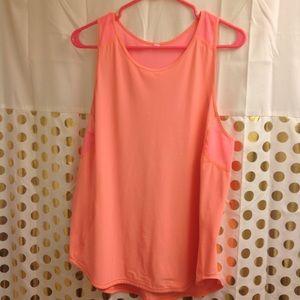 Lululemon Mesh Tank Top Shirt Coral 10